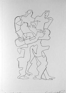 Sept Calligrammes d'Apollinaire 04 by Ossip Zadkine