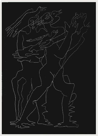 Sept Calligrammes d'Apollinaire 05 by Ossip Zadkine
