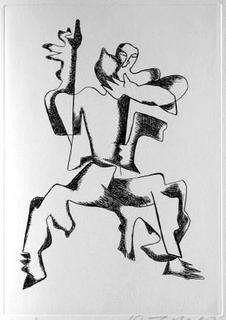Sept Calligrammes d'Apollinaire 06 by Ossip Zadkine