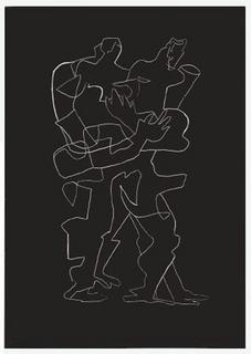 Sept Calligrammes d'Apollinaire 07 by Ossip Zadkine