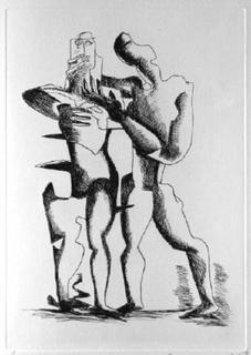 Sept Calligrammes d'Apollinaire 08 by Ossip Zadkine