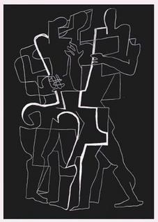 Sept Calligrammes d'Apollinaire 09 by Ossip Zadkine