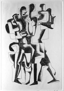 Sept Calligrammes d'Apollinaire 10 by Ossip Zadkine