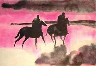 Cavaliers à l'aube by Paul Guiramand