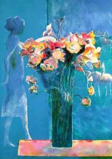 Femme au Bouquet by Paul Guiramand