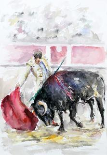 Bulls I by Margarita de Grassa