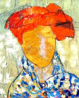 Character  with Turban I by Soledad Fernández