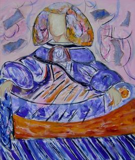 Pink and Blue Menina by Soledad Fernández