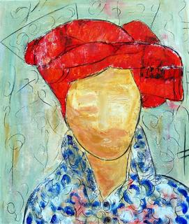 Character with Turban II by Soledad Fernández