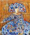Blue Menina by Soledad Fernández
