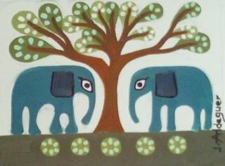 Elephants 4 by Judith Aldeguer