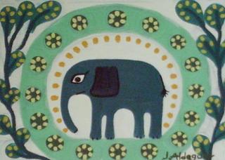Elephants 5 by Judith Aldeguer