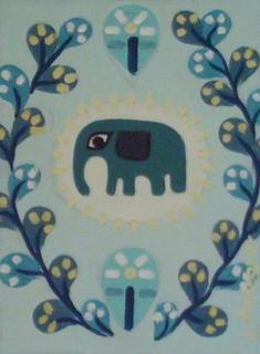 Elephants 14 by Judith Aldeguer