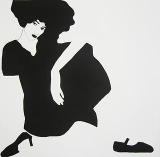 Dark-Haired Girl with Slipper by Cristina Gayarre
