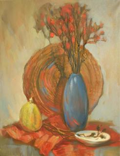 Still Life with Blue Vase by Irina Privedentseva