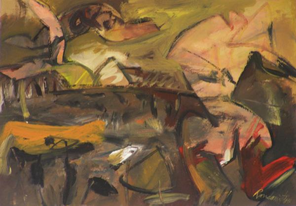 Paesaggio con Figura by Manlio Rondoni