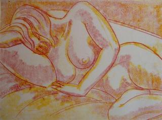 Model Resting  4 by John Reay
