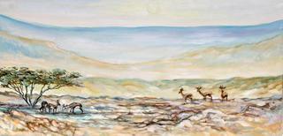 Hot Day in the Desert by Moshe Paz