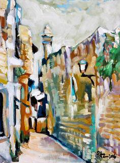 An Old Street Corner in Ramla by Moshe Paz