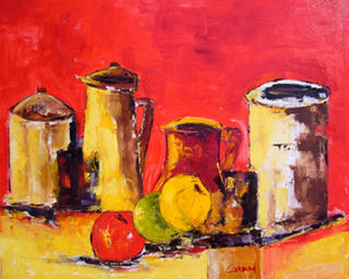 Still Life with Apples by Madame Itty