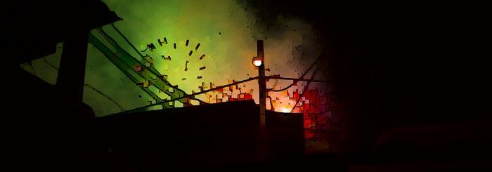 Skyline with Fireworks (The Skyline Series) by Henry Bateman