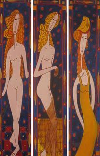 Daydream Women (Triptych ) by Carmen Rissoto