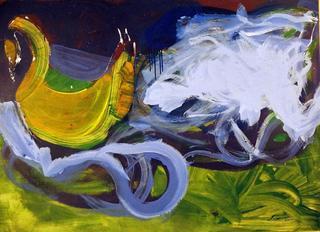 Swan and Nebula by Jesús Cuenca