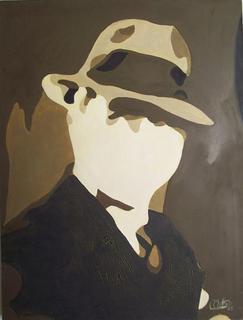 Homage to Carlos Gardel 1 by Rosario de Mattos
