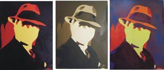 Homage to Carlos Gardel 1 (Triptych) by Rosario de Mattos