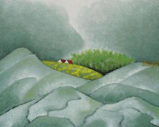 Village behind Mountain 2 by Pham Kien Giang