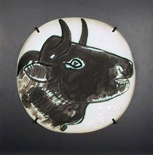 Profil de Taureau Foncé by Pablo Picasso