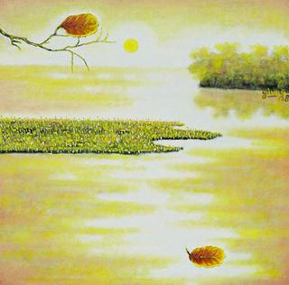 Leaves 2.Keeping Sunset 2 by Pham Kien Giang