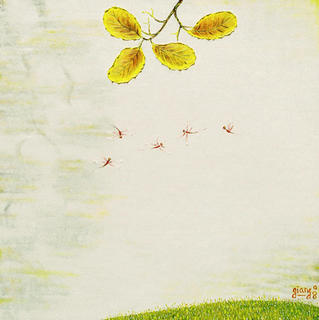 Leaves 7. The dance of Five Dragonflies by Pham Kien Giang