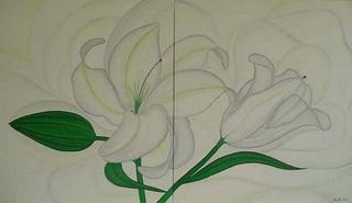 White Lilies by Marinella Owens