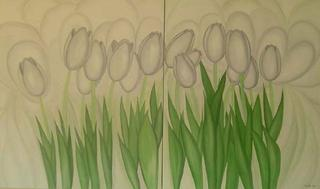 White Tulipans by Marinella Owens