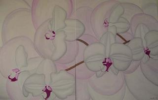 White / Pink Orchide by Marinella Owens