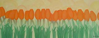Orange Tulipans by Marinella Owens