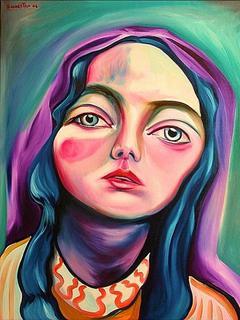 Girl with Shawl by Raúl Cañestro