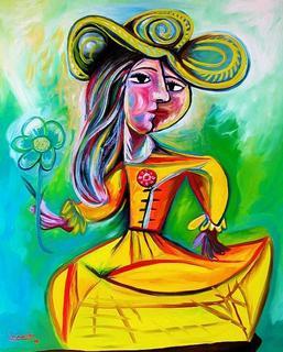 Menina with Flower by Raúl Cañestro
