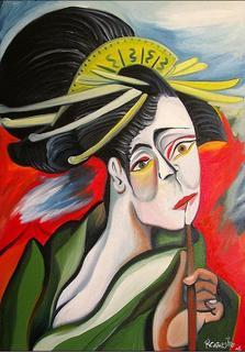 Geisha Painter by Raúl Cañestro