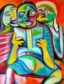 Children Reading a Short Story by Raúl Cañestro