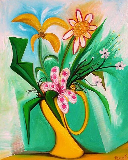 Yellow Vase by Raúl Cañestro