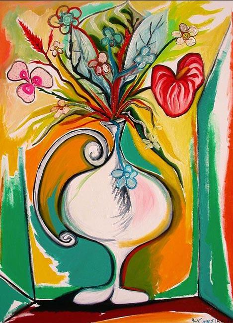 White Vase by Raúl Cañestro