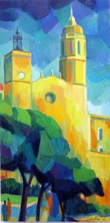 Church (Sitges) by Guillermo Martí Ceballos