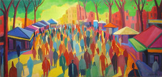 Crowd in the Boulevard by Guillermo Martí Ceballos