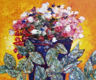 Plantpot with Flowers by Jaime Pérez Magariños