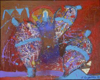 La Sirena Cautiva entre Nopales Azules by Jaime Lupercio
