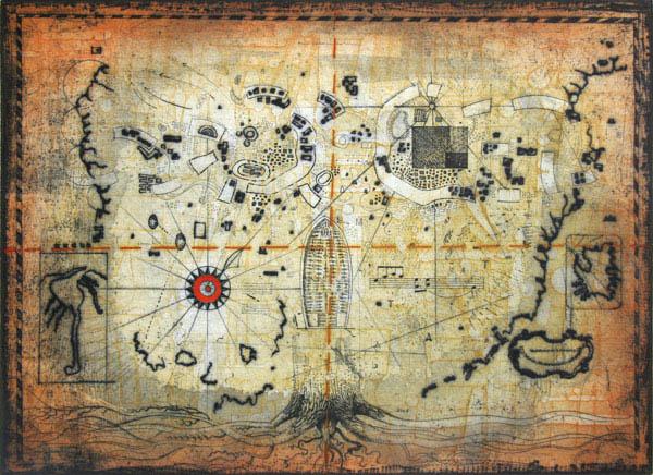 Untitled Treasure Map Original Art By Thomas O Donohue