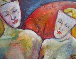 Two Masks by Renate van Nijen