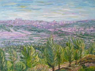 View of Jerusalem from the Eitan Mountain by Moti Lorber